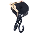"Ratchet Tie Down Strap - 1"" - S Hook / RATCHET1 Series"