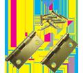 "Cabinet Hinge 2"" - Satin Brass Plating / 69-0150"