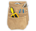 Tool Pouch - 4 Pocket - Split Leather / DW1024