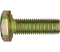 "Hex Head Cap Screw 1-1/4"" UNF - Grade 8 / Yellow Zinc"