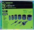 8-Piece Industrial Maintenance Bi-Metal Hole Saw Kit
