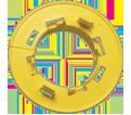 "Easy Snap Grommet - 1.315"" - Polyethylene / ESG1M (1000 Pk)"