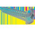Truss Head #8 Robertson Sheet Metal Screws / Zinc (PKG)