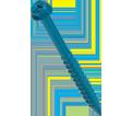 """Hex Washer Head 1/4"""" Super SCRU-IT® Anchor / RUSPRO® Coated"""