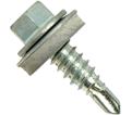 EPDM Washer Head 1/4-14 Stitch Lapping Self-Drilling Screw / Zinc Plated