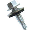 EPDM Washer Head 1/4-14 Stitch Lapping Screws / RUSPRO® Coated 410 Stainless Steel (BULK)