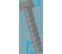 "Hex Head TORPEDO® Bolt 1/2"" - Galvanized Carbon Steel / UTB"