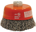 "4"" - Cup Brush - 0.020"" Crimped Wire"