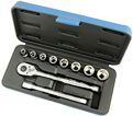 "Chrome Socket Set - 3/8"" - 6 Point / 600223 *11 Pc"
