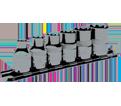 """Chrome Socket Set - 3/8"""" - External TORX® / 601231 *6 Pc"""