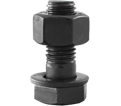 "Structural Bolt 1-1/2"" UNC - w/A563 DH Nut / Plain A325"