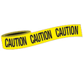 "CAUTION Barricade Tape - Yellow - 3"" x 1000'"