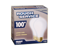 Light Bulbs - 100 W - Frosted / 73211 *ROUGH SERVICE (2 PK)