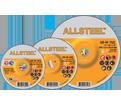 Grinding Wheel - Aluminum Oxide - Type 27 @ 90° / 08-W Series *ALLSTEEL™