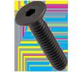 Flat Socket Cap Screws - 3/8-16 - Alloy / PLAIN