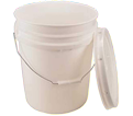Empty Bucket - 20L - White / Plastic *WITH LID