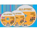 Cut-Off Wheels - Aluminum Oxide - Type 27 @ 90° / 11-W Series *ALLSTEEL™