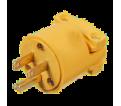 3-Wire Male Plug - 15A - Plastic / 6510