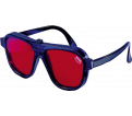 Laser Enhancement Glasses - Red - Plastic / 07470
