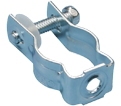 "Bolt Close Conduit/Pipe Clamp - 1.41"" – 1.74"" x 1/4"" - Steel / CD3B *ELECTROGALVANIZED"