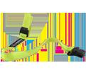 Hard Hat Lanyard - Elastic - Hi-Vis Lime / 3155 *SQUIDS